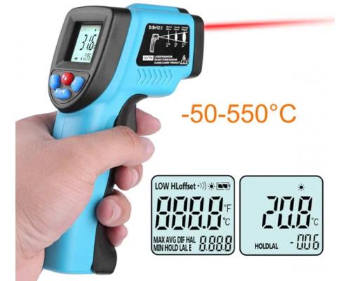 Пирометр инфракрасный Бесконтактный GM550 -50 ~ 550°C